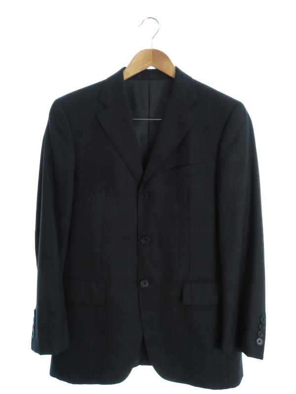 【BURBERRY BLACK LABEL】【2ピース】【セットアップ】バーバリーブラックレーベル『スーツ上下セット size36R』メンズ 1週間保証【中古】b02f/h19AB