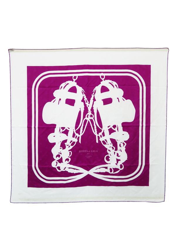 【HERMES】【BRIDES de GALA】エルメス『カレ90 式典用馬勒』レディース スカーフ 1週間保証【中古】b05f/h08AB