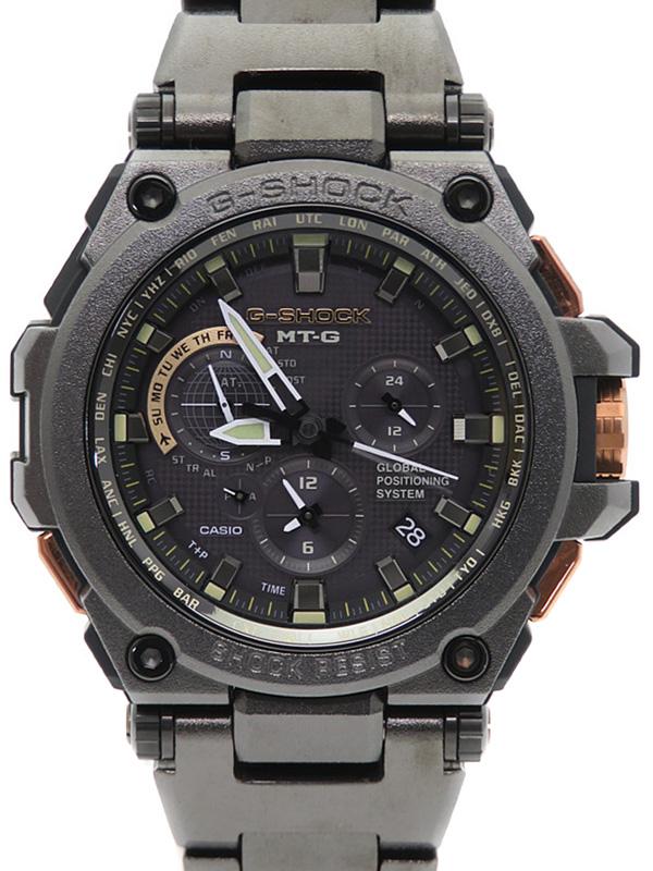 【CASIO】【G-SHOCK】【GPSハイブリッド電波ソーラー】【'17年購入】カシオ『Gショック MT-G』MTG-G1000RB-1AJF メンズ ソーラー電波GPS 1ヶ月保証【中古】b02w/h03A