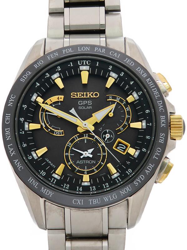 【SEIKO】セイコー『アストロン』SBXB073 8X53-0AB0 5D****番 メンズ ソーラーGPS 1ヶ月保証【中古】b06w/h18A