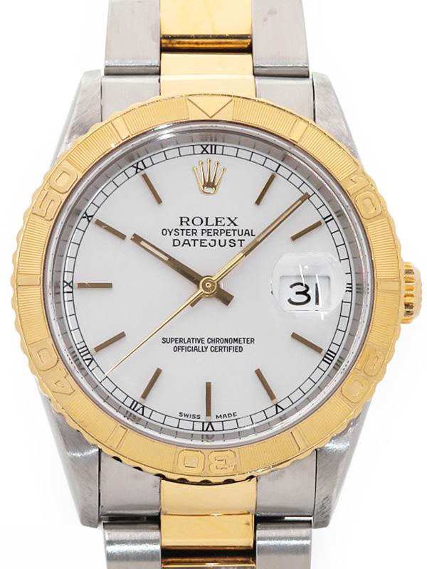 【ROLEX】【OH済】ロレックス『デイトジャスト サンダーバード』16263 K番'01年頃製 メンズ 自動巻き 12ヶ月保証【中古】b03w/h21AB