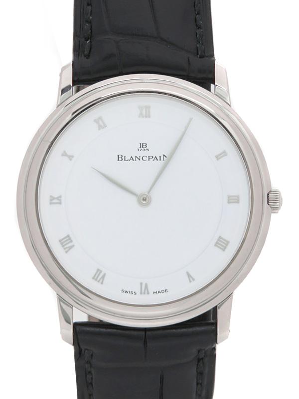 【BLANCPAIN】【裏スケ】ブランパン『ヴィルレ ウルトラスリム』メンズ 手巻き 6ヶ月保証【中古】b05w/h04A