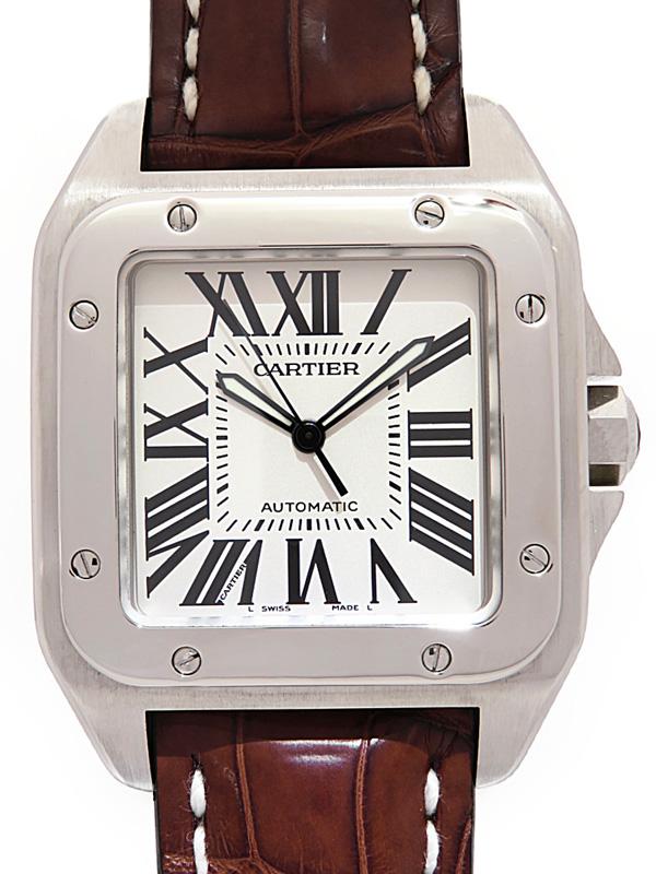 【Cartier】【'16年OH済】カルティエ『サントス100LM』W20073X8 メンズ 自動巻き 6ヶ月保証【中古】b05w/h10A