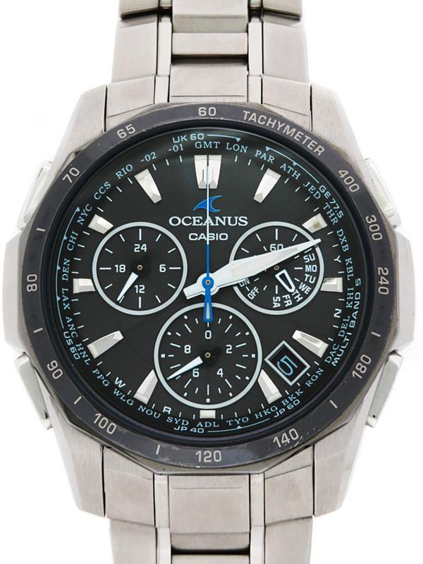 【CASIO】【OCEANUS】カシオ『オシアナス マンタ』OCW-S1000BJ-1AJF メンズ ソーラー電波クォーツ 1週間保証【中古】b03w/h00B