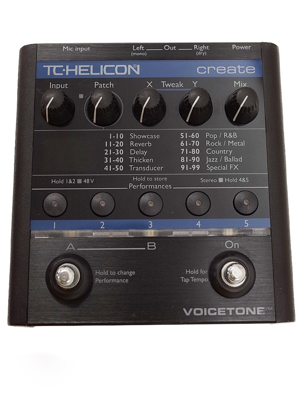 【T.C.HELICON】ティーシーヘリコン『ボーカルエフェクター』VOICE TONE Create 1週間保証【中古】b03g/h10AB