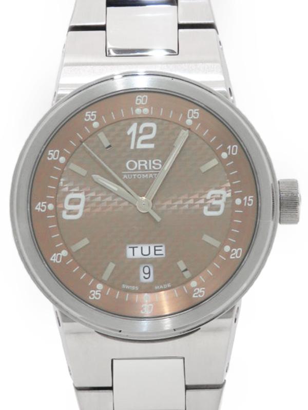 【ORIS】【裏スケ】オリス『TT2 デイデイト』635 7560 4162M メンズ 自動巻き 1週間保証【中古】b05w/h11A