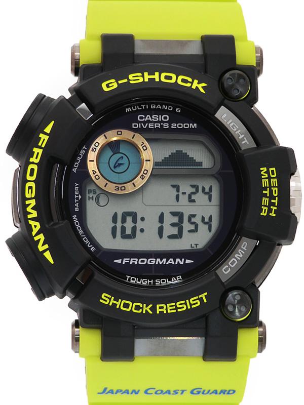 【CASIO】【G-SHOCK】【美品】カシオ『Gショック フロッグマン 海上保安制度創設70周年コラボ』GWF-D1000JCG-9JR メンズ ソーラー電波 3ヶ月保証【中古】b05w/h18SA