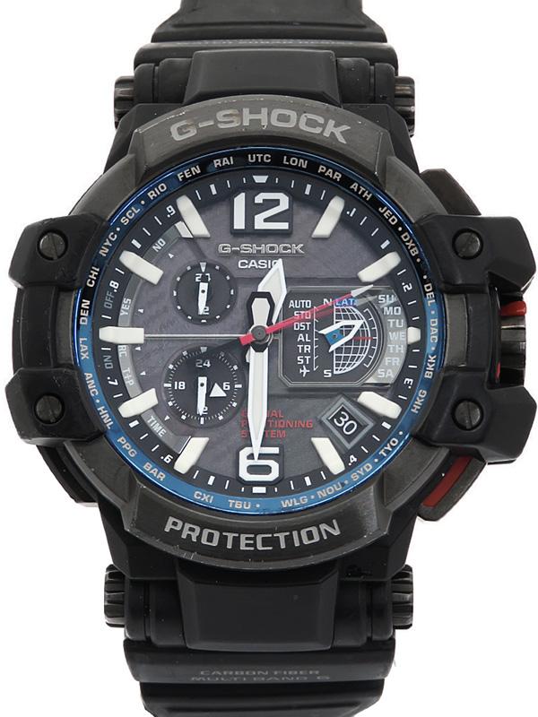 【CASIO】【G-SHOCK】【GPSハイブリッド電波ソーラー】カシオ『Gショック スカイコックピット』GPW-1000-1AJF メンズ ソーラー電波GPS 1週間保証【中古】b05w/h10B
