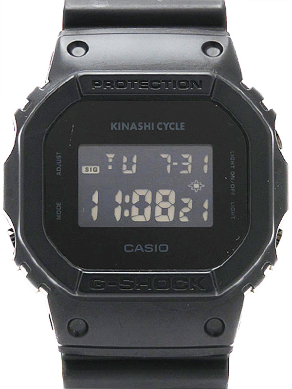 【CASIO】【G-SHOCK×KINASHI CYCLE】カシオ『Gショック 木梨サイクルコラボモデル』DW-5600VT ボーイズ クォーツ 1週間保証【中古】b03w/h20AB