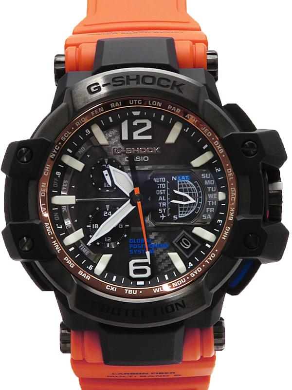 【CASIO】【G-SHOCK】【海外モデル】【GPSハイブリッド電波ソーラー】カシオ『Gショック グラビティマスター』GPW-1000-1A ソーラー電波GPS 1ヶ月保証【中古】b02w/h03A