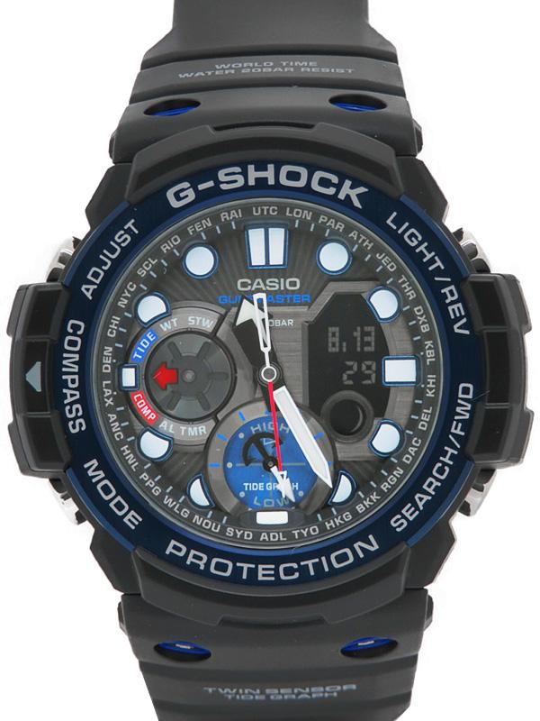 【CASIO】【G-SHOCK】【'18年購入】カシオ『Gショック ガルフマスター』GN-1000B-1AJF メンズ クォーツ 1週間保証【中古】b05w/h10A