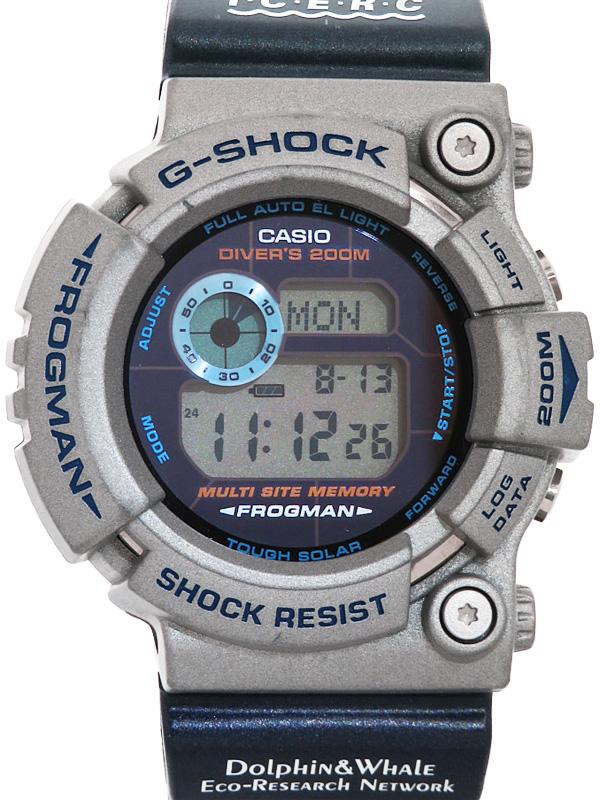 【CASIO】【G-SHOCK】【イルクジモデル】カシオ『Gショック フロッグマン』GW-200K-2JR メンズ ソーラークォーツ 1週間保証【中古】b03w/h20A