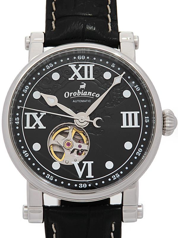 【Orobianco】【裏スケ】オロビアンコ『タイムオラ』OR-0041 メンズ 自動巻き 1週間保証【中古】b05w/h22AB