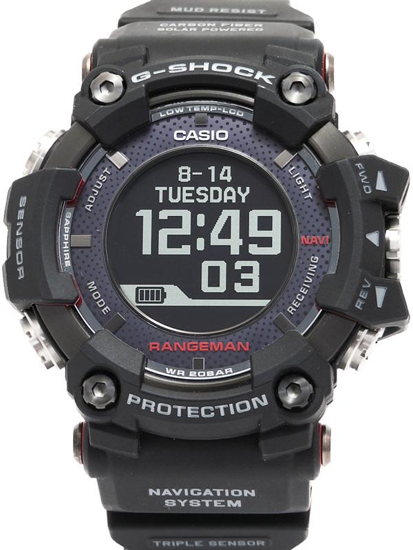【CASIO】【G-SHOCK】【ソーラーアシストGPSナビゲーション】カシオ『Gショック マスターオブG レンジマン』GPR-B1000-1JR メンズ ソーラー電波GPS 【中古】b02w/h03A