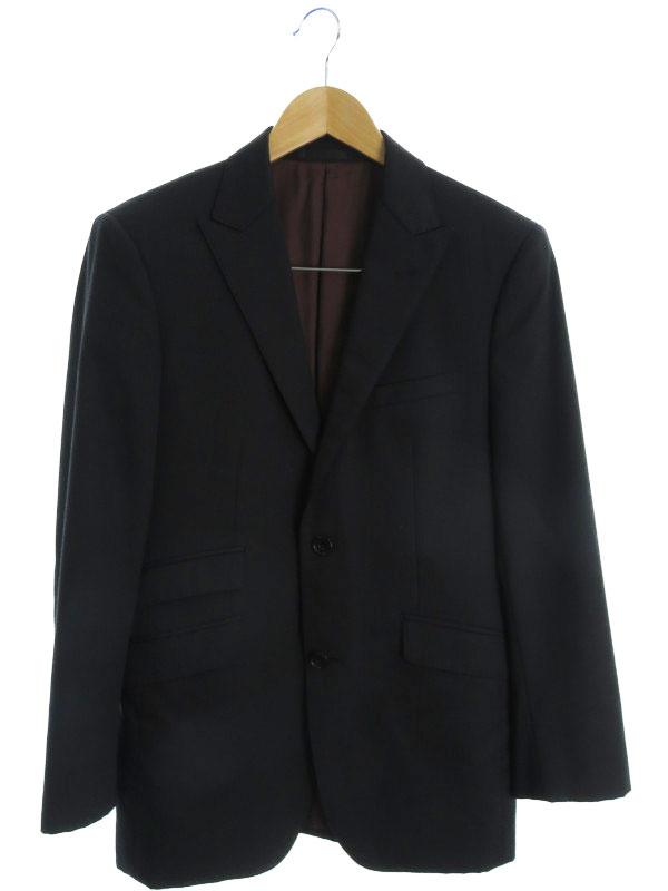 【BURBERRY BLACK LABEL】【日本製】【TASMANIA WOOL】【super110's】バーバリーブラックレーベル『ストライプ柄スーツ size36R』メンズ セットアップ【中古】b03f/h03B