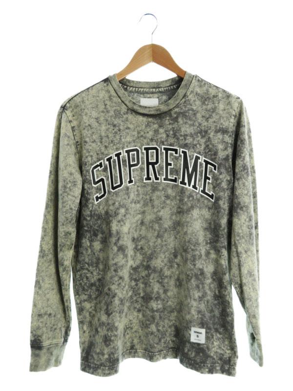 【Supreme】【Acid Wash Arc Logo L/S Tee】【17SS】【トップス】シュプリーム『長袖Tシャツ sizeS』メンズ カットソー 1週間保証【中古】b01f/h16AB