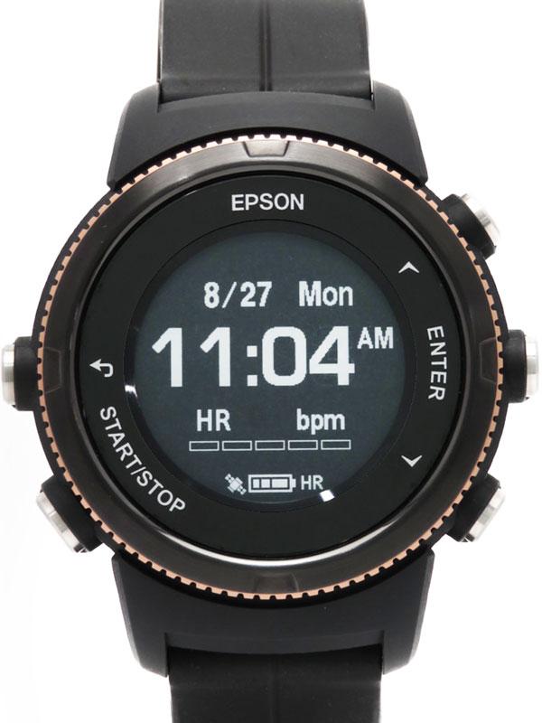 【EPSON】【スマートウォッチ】エプソン『リスタブル GPS ランニングウォッチ』U-350BS メンズ ウェアラブル端末 1週間保証【中古】b02w/h07A