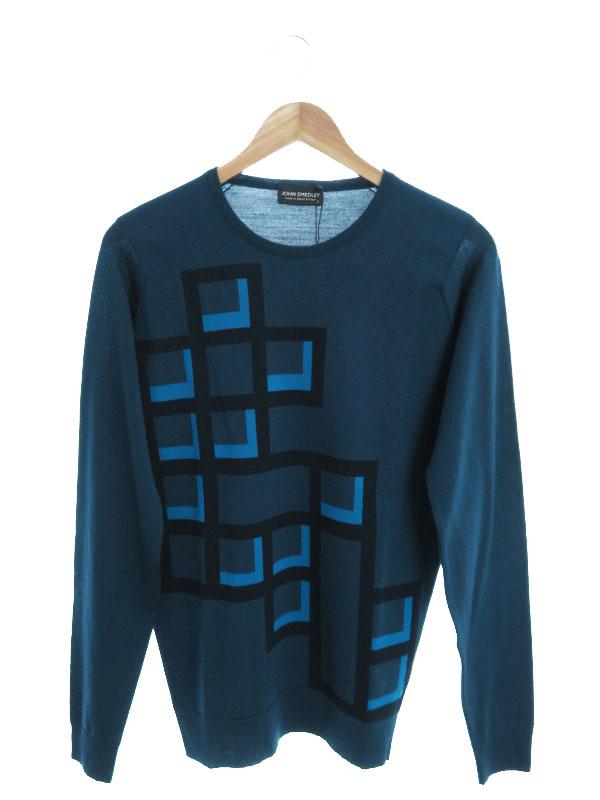 【JOHN SMEDLEY】【英国製】【トップス】ジョンスメドレー『長袖ニット sizeS』メンズ セーター 1週間保証【中古】b03f/h16A