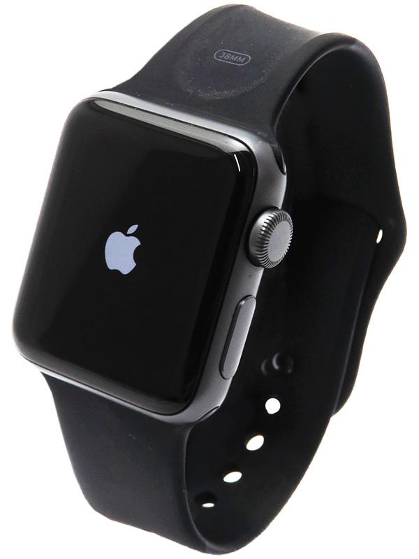 【Apple】【アップルウォッチ シリーズ2】アップル『Apple Watch Series2 38mm ブラックスポーツバンド』MP0E2J/A ボーイズ スマートウォッチ 1週間保証【中古】b05w/h22AB