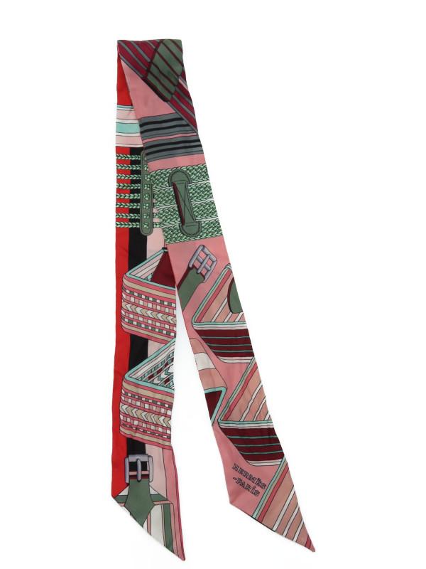 【HERMES】【フランス製】エルメス『ツイリー』レディース スカーフ 1週間保証【中古】b05f/h08AB