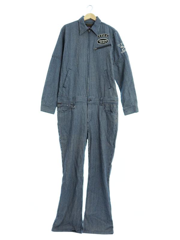 【VANSON】【TFOA】【つなぎ】バンソン『オールインワン sizeXL』メンズ ジャンプスーツ 1週間保証【中古】b01f/h03AB