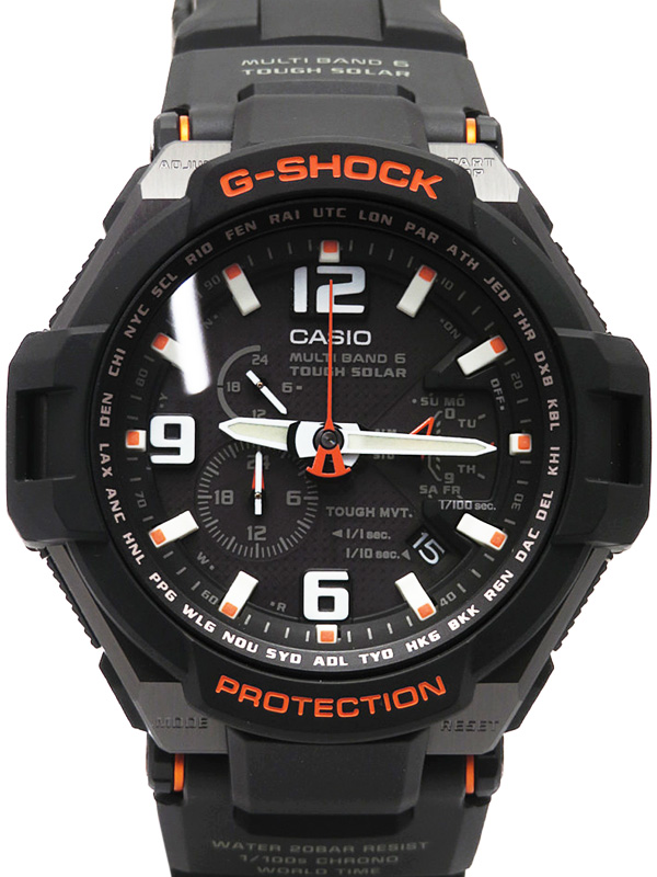 【CASIO】【G-SHOCK】【美品】カシオ『Gショック スカイコックピット』GW-4000-1AJF メンズ ソーラー電波クォーツ 1週間保証【中古】b03w/h19SA