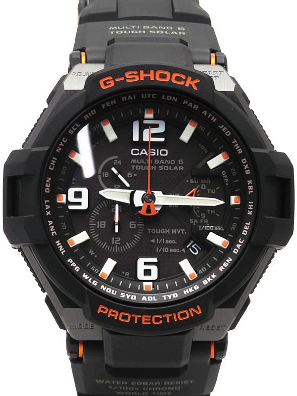 【CASIO】【G-SHOCK】【美品】カシオ『Gショック スカイコックピット』GW-4000-1AJF メンズ ソーラー電波クォーツ 1週間保証【中古】b05w/h19SA