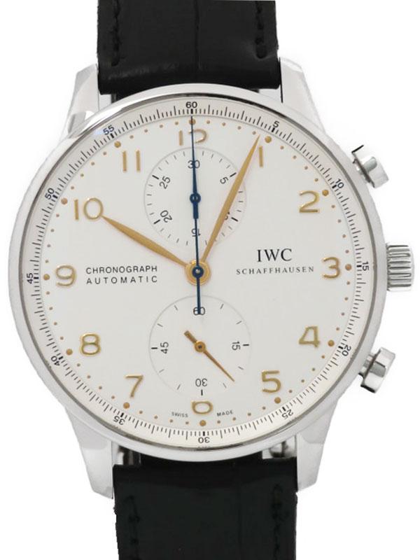 【IWC】インターナショナルウォッチカンパニー『ポルトギーゼクロノグラフ』IW371445 メンズ 自動巻き 6ヶ月保証【中古】b03w/h11A