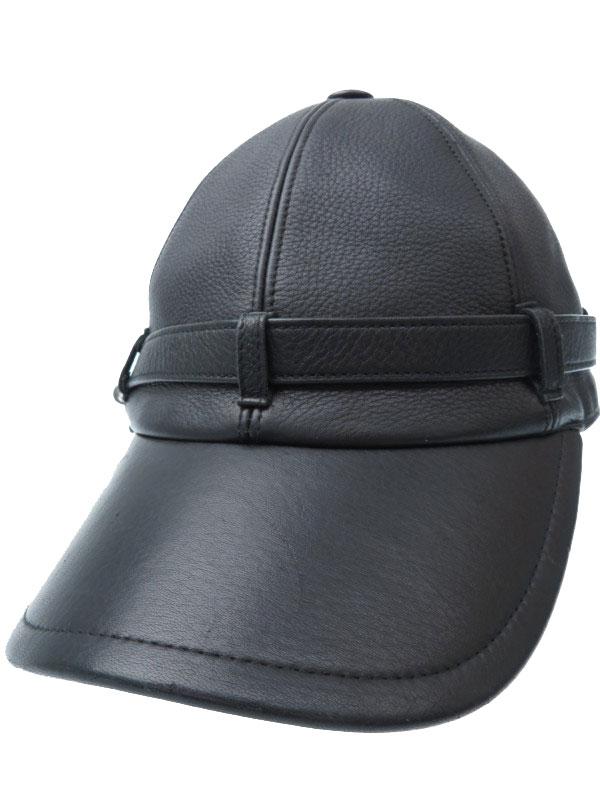 【HERMES】【鹿革】【フランス製】エルメス『レザーキャップ sizeSM』ユニセックス 帽子 1週間保証【中古】b06f/h10AB