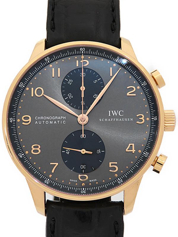 【IWC】インターナショナルウォッチカンパニー『ポルトギーゼ クロノグラフ』IW371482 メンズ 自動巻き 6ヶ月保証【中古】b03w/h20AB