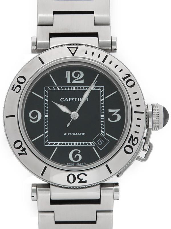 【Cartier】カルティエ『パシャシータイマー オートマティック』W31077M7 メンズ 自動巻き 3ヶ月保証【中古】b01w/h02A
