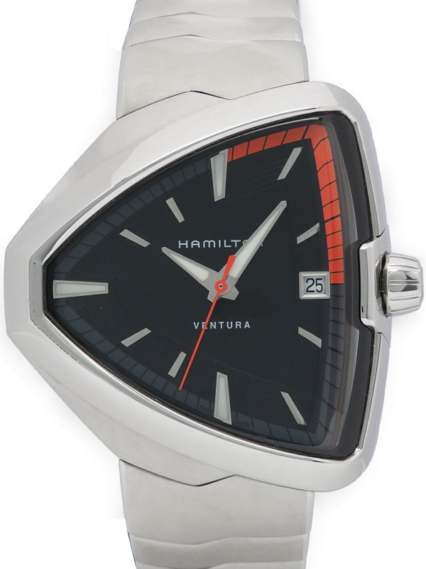 【HAMILTON】ハミルトン『ベンチュラ エルヴィス80』H24551131 メンズ クォーツ 1ヶ月保証【中古】b03w/h15A