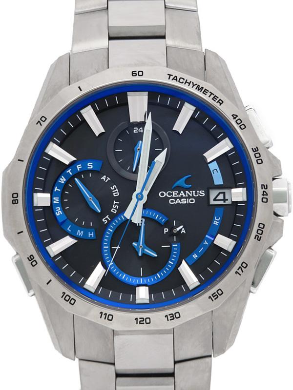 【CASIO】【OCEANUS】【'18年購入】【スマートフォンリンク】カシオ『オシアナス マンタ』OCW-S4000-1AJF メンズ ソーラー電波クォーツ 1ヶ月保証【中古】b03w/h14AB