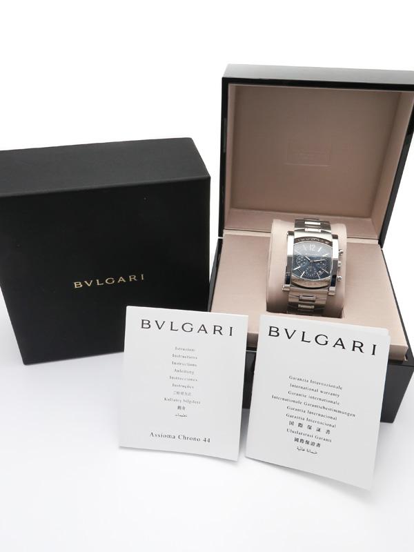 BVLGARI'18年購入 ブルガリ アショーマ クロノグラフ AA44SCH メンズ 自動巻き 3ヶ月保証b01w h16AbYf7gmIvy6