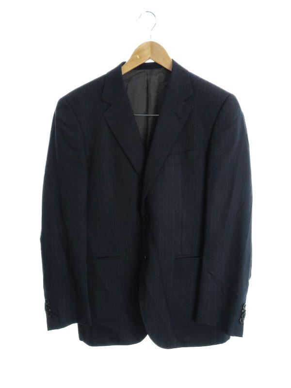 【Paul Smith】【セットアップ】【チェルッティ】【iTravel】【日本製】ポールスミス『ストライプ柄スーツ上下セット sizeM』メンズ 1週間保証【中古】b05f/h07AB