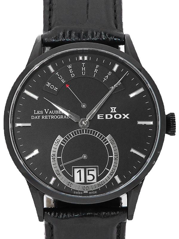 【EDOX】【電池交換済】エドックス『デイ レトログレード』34001 357N NIN メンズ クォーツ 1週間保証【中古】b06w/h18AB