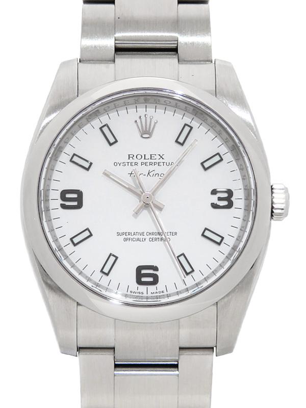 【ROLEX】ロレックス『エアキング』114200 M番'07年頃製 メンズ 自動巻き 12ヶ月保証【中古】b03w/h14A