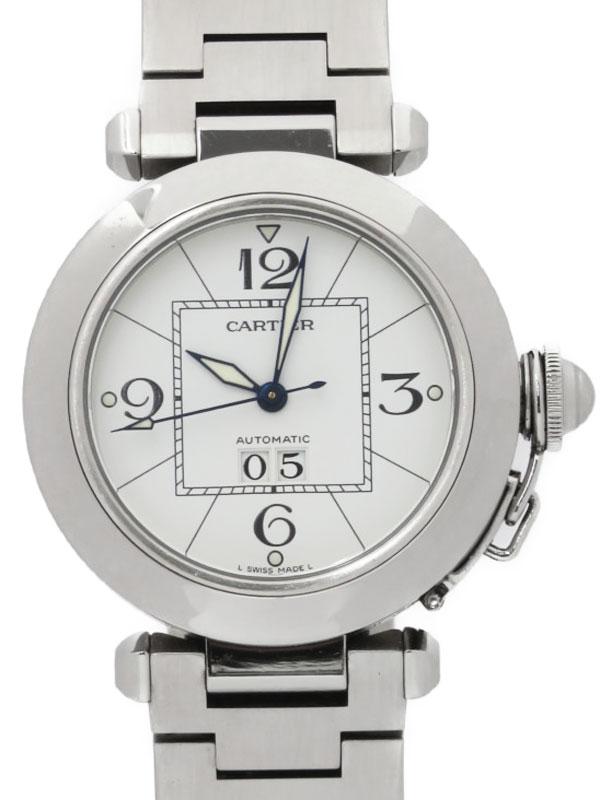 【Cartier】カルティエ『パシャC ビックデイト』W31055M7 ボーイズ 自動巻き 3ヶ月保証【中古】b03w/h15A