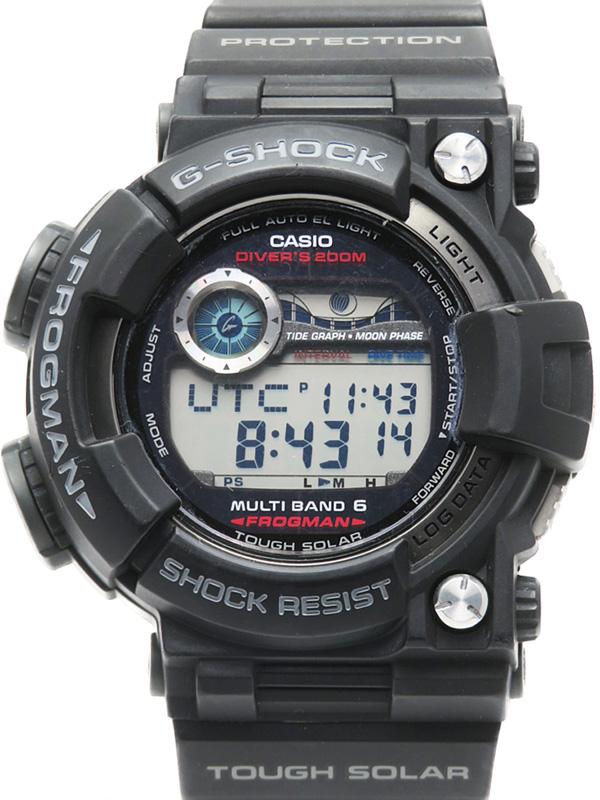 【CASIO】【G-SHOCK】カシオ『Gショック フロッグマン』GWF-1000-1JF メンズ ソーラー電波クォーツ 1週間保証【中古】b05w/h22B