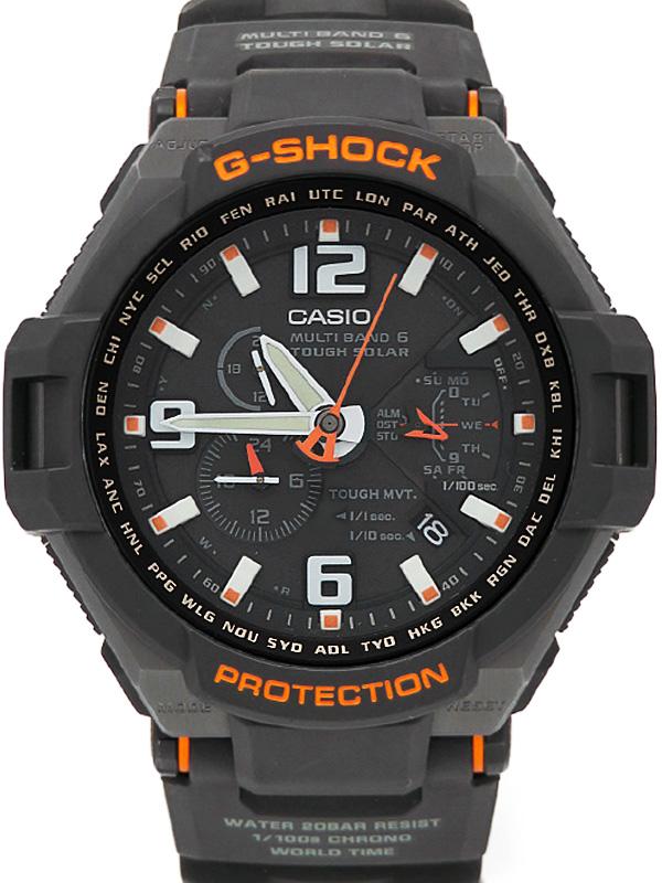 【CASIO】【G-SHOCK】カシオ『Gショック スカイコックピット』GW-4000-1 メンズ ソーラー電波クォーツ 1週間保証【中古】b06w/h17AB