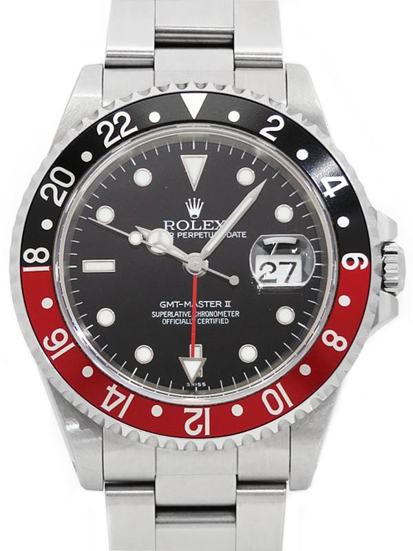 【ROLEX】ロレックス『GMTマスター2 赤×黒ベゼル』16710 A番'99年頃製 メンズ 自動巻き 12ヶ月保証【中古】b03w/h21AB