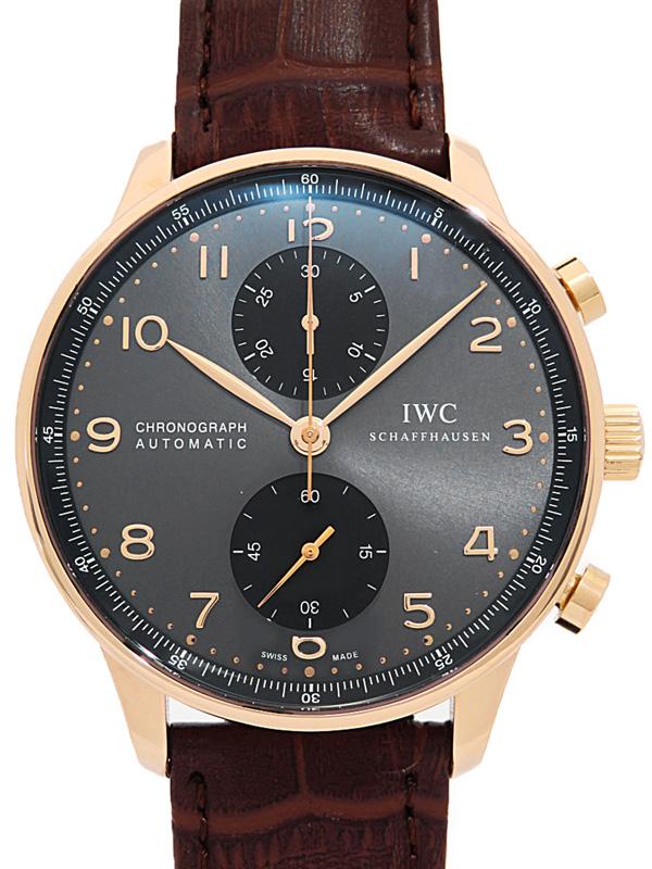 【IWC】インターナショナルウォッチカンパニー『ポルトギーゼ クロノグラフ』IW371482 メンズ 自動巻き 6ヶ月保証【中古】b03w/h02A