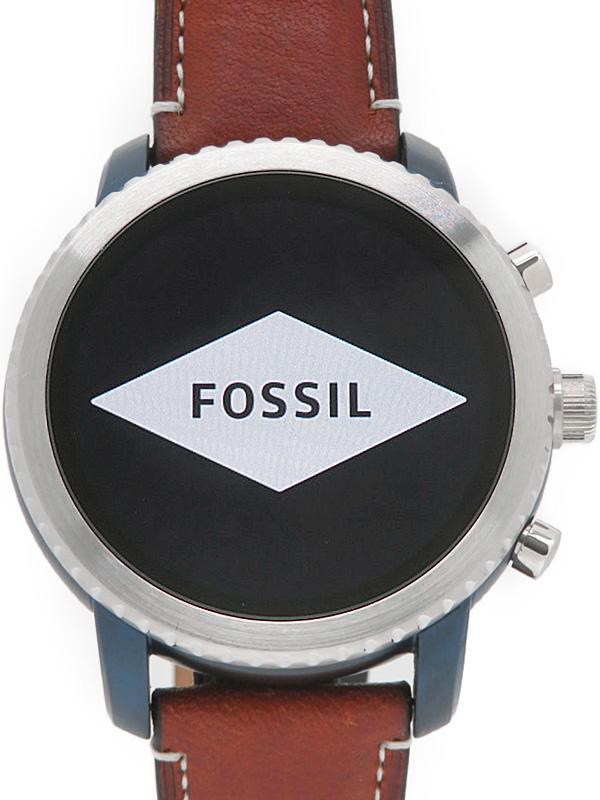 【FOSSIL】【'18年購入】フォッシル『Q EXPLORIST ラゲージレザージェネレーション3』FTW4004 メンズ スマートウォッチ 1週間保証【中古】b05w/h10A