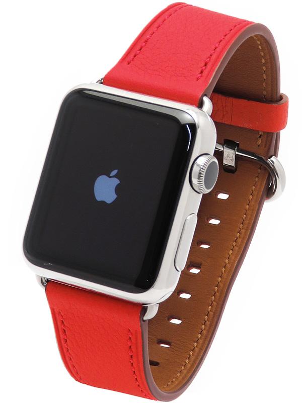 【Apple】【アップルウォッチ シリーズ1】アップル『Apple Watch レッドクラシックバックル 38mm』MMF82J/A ボーイズ スマートウォッチ 1週間保証【中古】b06w/h06AB