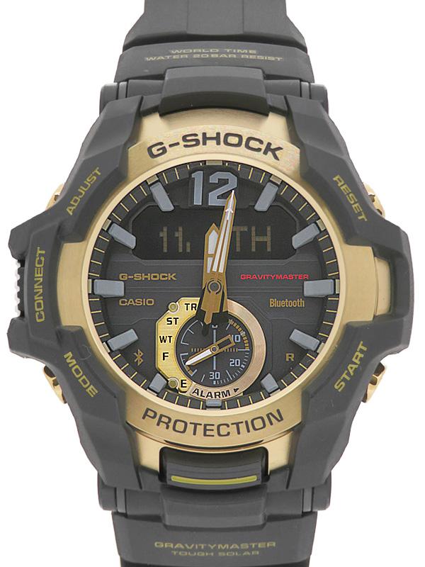 【CASIO】【G-SHOCK】【モバイルリンク】カシオ『Gショック グラビティマスター』GR-B100GB-1AJF メンズ ソーラークォーツ 1週間保証【中古】b02w/h14A