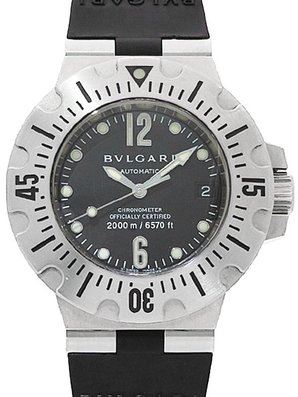 【BVLGARI】【内部点検済】ブルガリ『ディアゴノ プロフェッショナル スクーバ』SD42S メンズ 自動巻き 3ヶ月保証【中古】b01w/h03B