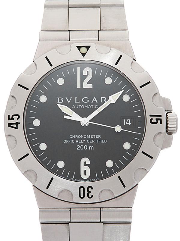 【BVLGARI】【内部点検済】ブルガリ『ブルガリブルガリ』BB38S メンズ 自動巻き 1週間保証【中古】b02w/h03A
