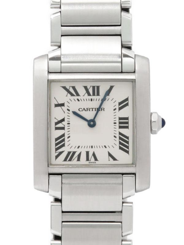【Cartier】【電池交換済】カルティエ『タンクフランセーズMM』W51011Q3 ボーイズ クォーツ 3ヶ月保証【中古】b01w/h08A