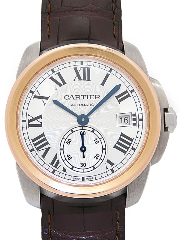 【Cartier】【裏スケ】【内部点検済】カルティエ『カリブル 38mm』W2CA0002 メンズ 自動巻き 6ヶ月保証【中古】b01w/h02A