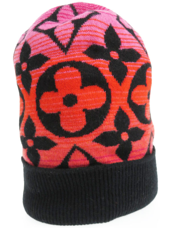【LOUIS VUITTON】【ニット帽】【イタリア製】ルイヴィトン『ボネ・モノグラムサンセット』M73046 ユニセックス 帽子 1週間保証【中古】b01f/h18A